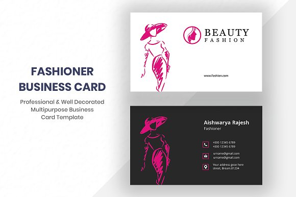 fashion business card business card templates creative daddy