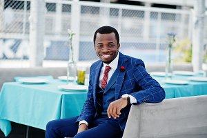 African american happy successful ma
