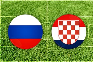 Russia vs Croatia football match