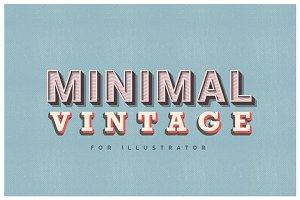 Minimal Vintage - Illustrator Styles
