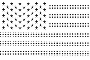 USA flag vector, American flag