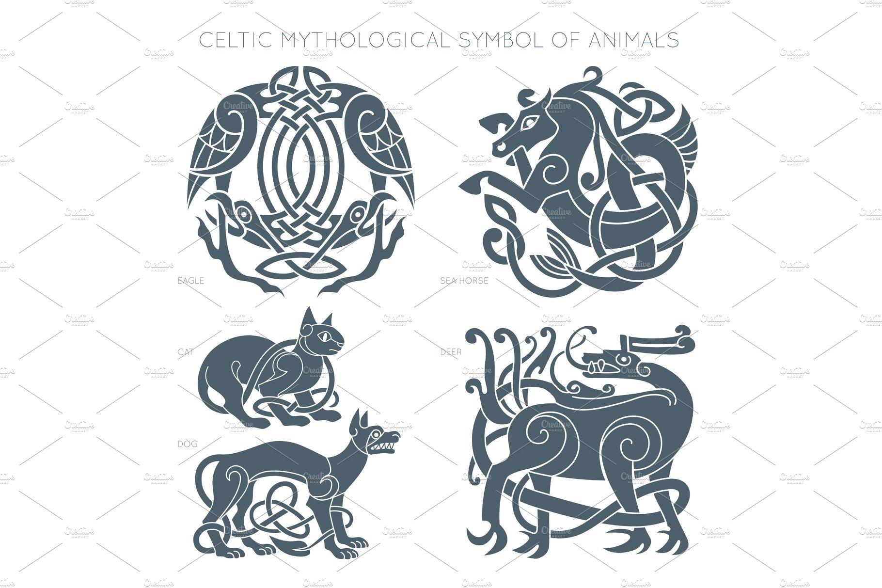 Ancient Celtic Mythological Symbol Illustrations Creative Market