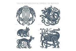 Ancient celtic mythological symbol
