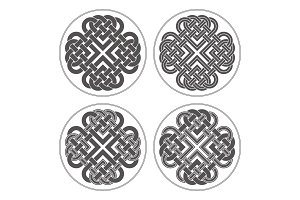 Vector heart celtic cross. Ethnic