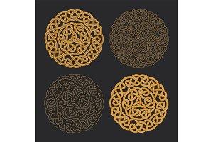 Vector celtic circle cross. Ethnic