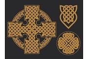 Vector celtic cross. Ethnic ornament