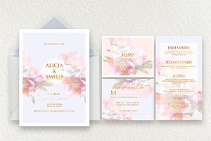 Elegant Wedding Invitation Ac.15