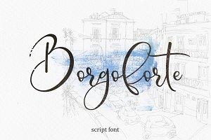 Borgoforte script font