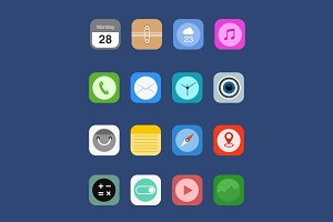 iOS 8 Icon Set