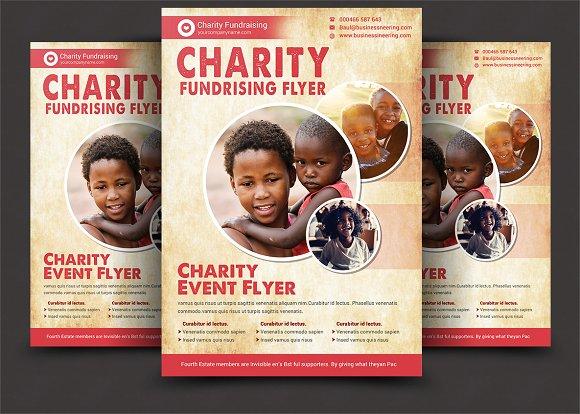 Charity Flyer Templates Flyer Templates Creative Market