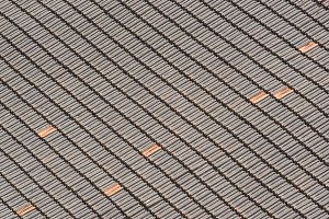 Pattern of terracotta roof tiles