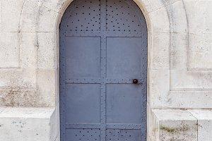 Old ornate metal door
