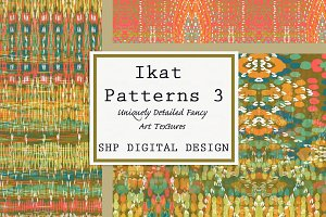 Ikat Ethnic Pattern Set 3