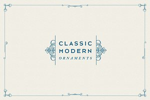 Classic Modern Ornaments