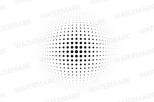 Black halftone bulge