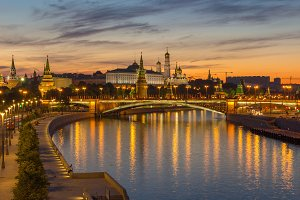 Moscow Kremlin and Moscow River in