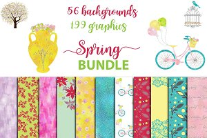 Spring BUNDLE graphics + backgrounds