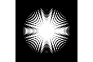 Concentric Circles Halftone