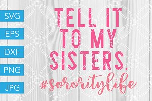 Sorority Sisters SVG Cut File
