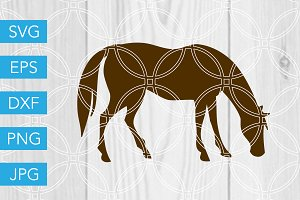 Horse SVG Cut File Farm Animal SVG