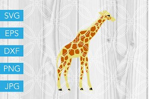 Giraffe SVG Cut File Zoo SVG
