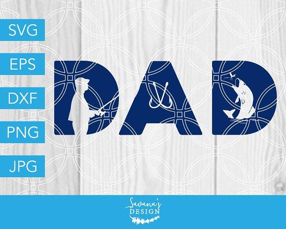 Download Dad Fishing Svg Dad Svg Fishing Svg Pre Designed Vector Graphics Creative Market