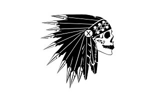 A skull icon American Indian