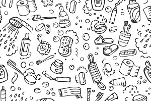Washing seamless pattern