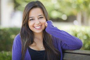 Mixed Race Female Student Portrait o