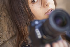 Mixed Race Young Adult Female Photog