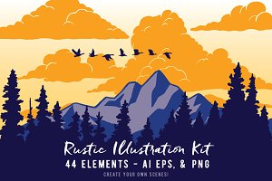 Rustic Illustration Kit Volume 1