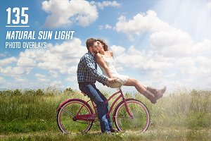 135 Natural Sun Light Photo Overlays