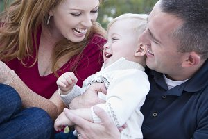 Attractive Young Parents Laughing wi