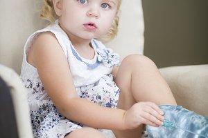 Blonde Haired Blue Eyed Little Girl