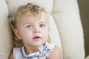Adorable Blonde Haired and Blue Eyed