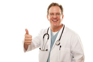 Male Doctor Giving the Thumbs Up Sig