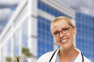 Friendly Female Blonde Doctor or Nur