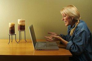 Woman Using Laptop Series