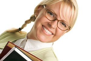 Attractive Student Carrying Her Book