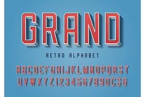 Grand trendy retro display font