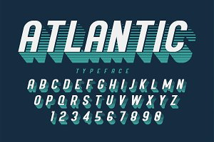 Condensed retro display font design