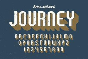 Condensed retro display font design