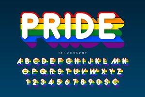 Original display rainbow font design