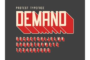 Protest display font design