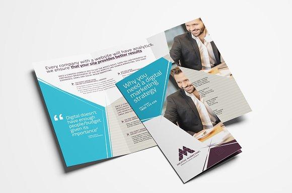 digital marketing tri fold brochure brochure templates creative