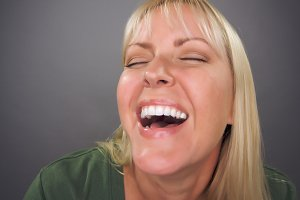 Beautiful Blond Woman Laughing