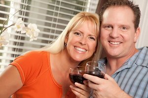 Happy Couple Enjoying Wine