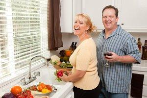 Happy Couple Enjoying An Evening