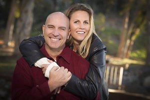 Attractive Couple Portrait in the Pa