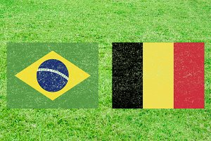 Brazil vs Belgium Sports Background